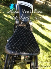 Frugal in Fairfield DIY: Motorcycle Seat Tutorial