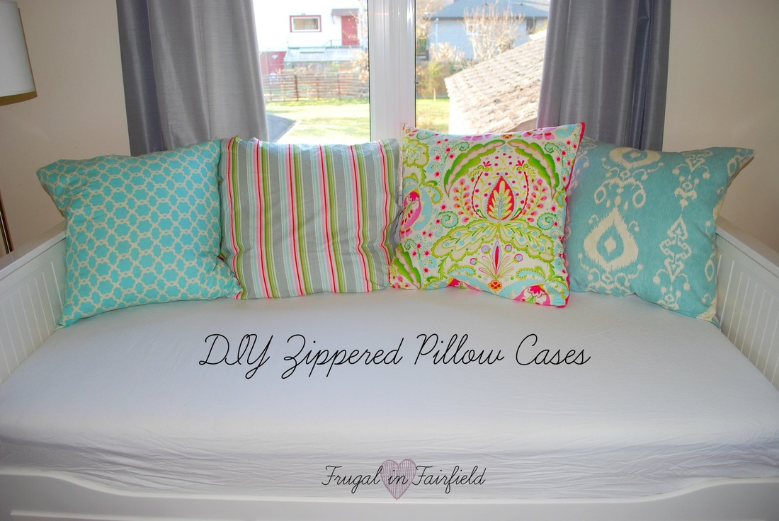 Frugal in Fairfield DIY: Zippered Pillow Case Tutorial