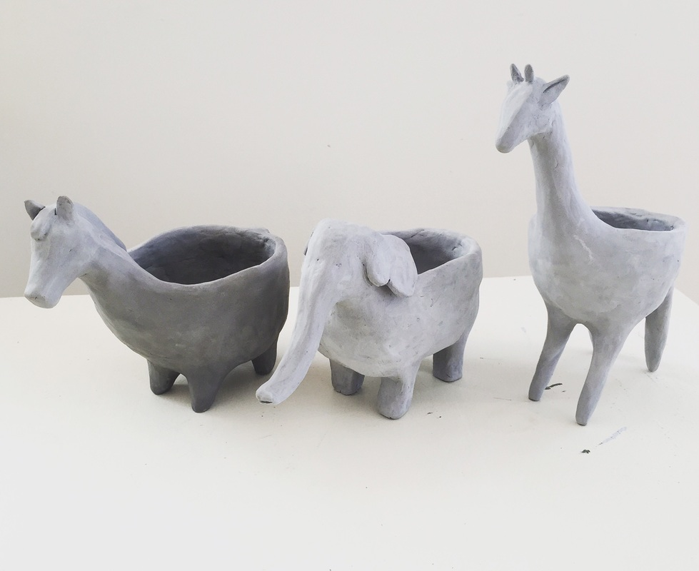 DIY Clay Animal Planters!