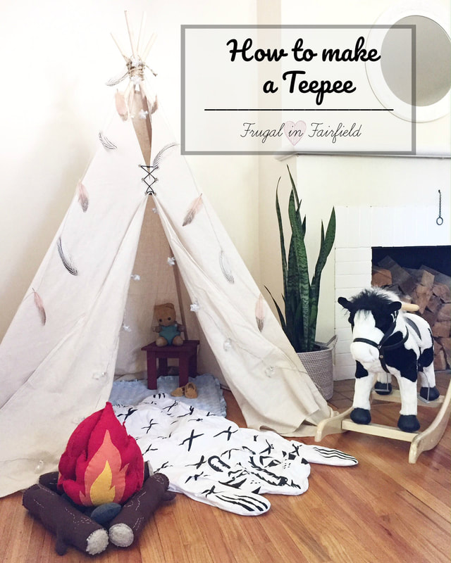 DIY teepee! Make this great little hideaway for your kids to enjoy!