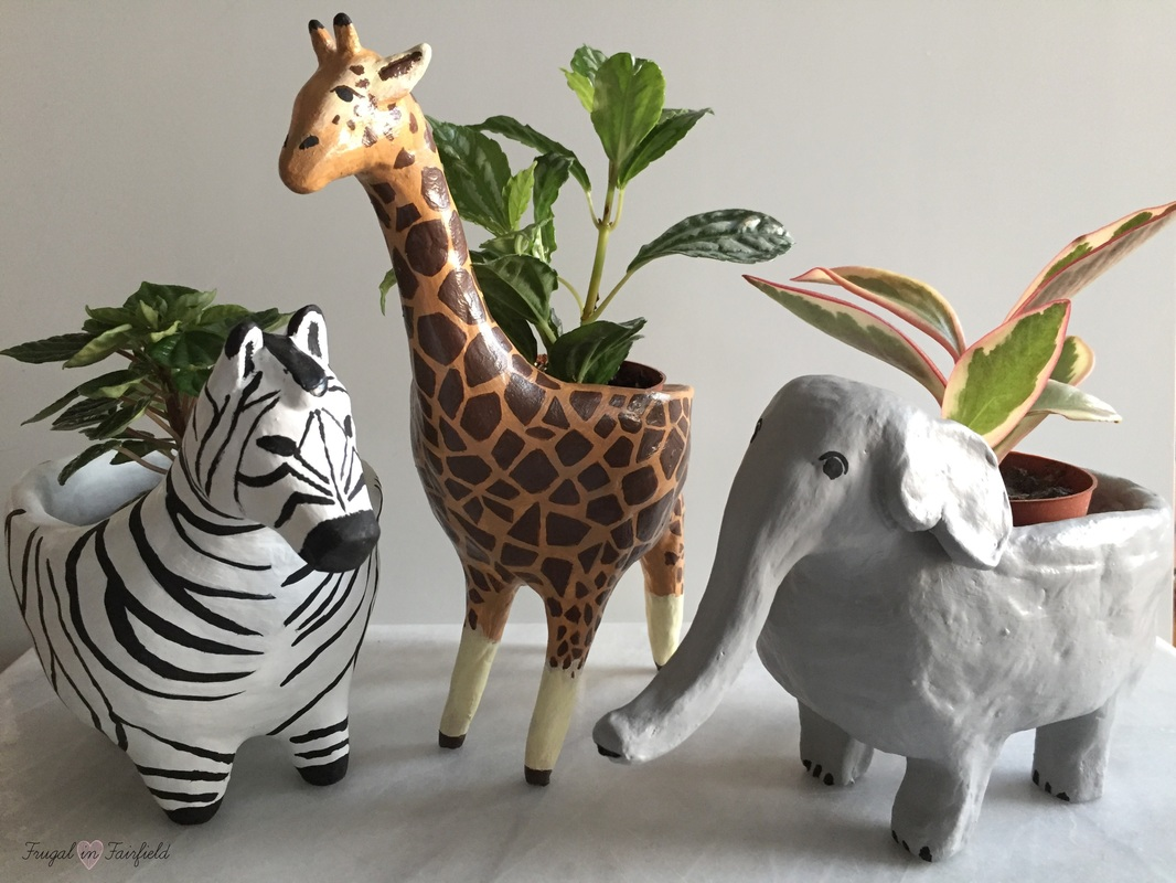 DIY Clay Animal Planter