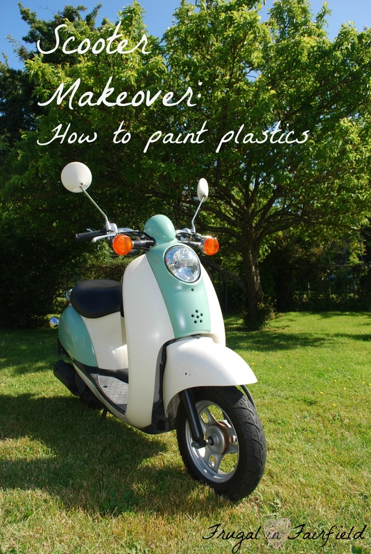 Frugal in Fairfield DIY: Repainting Scooter Plastics