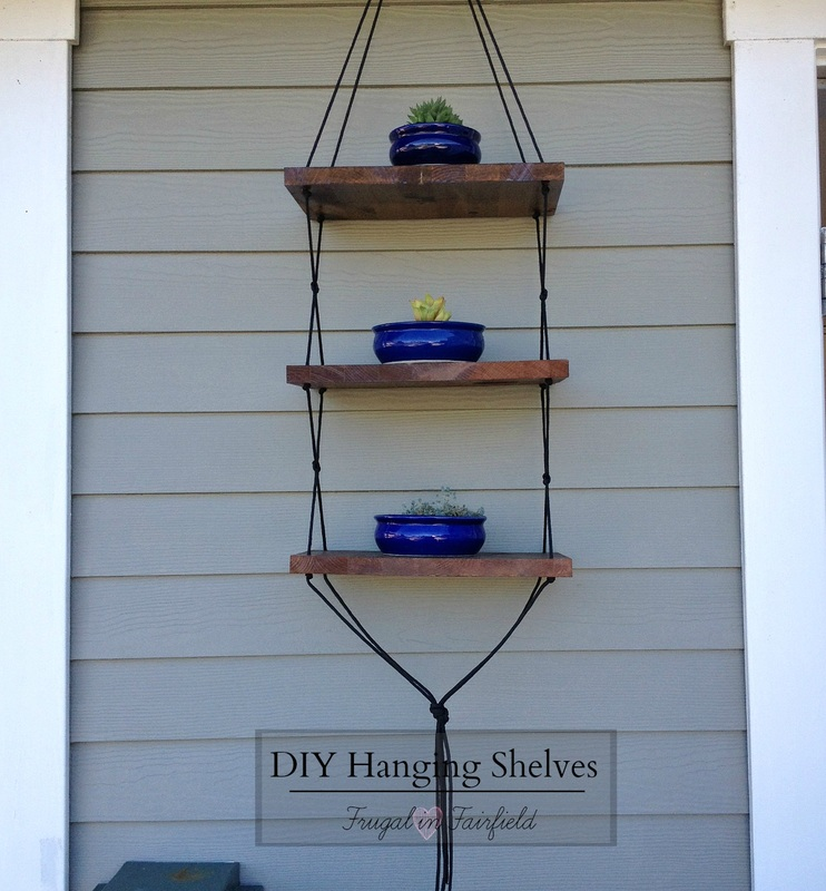 DIY hanging shelves | Frugal in Fairfield