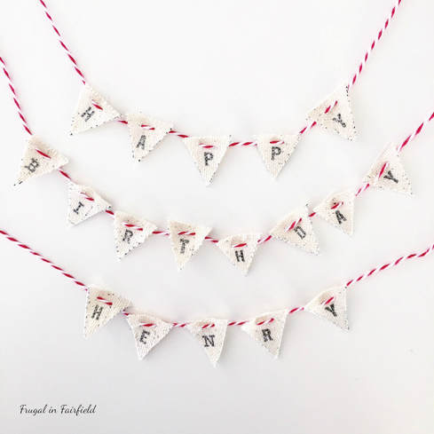 DIY birthday cake bunting