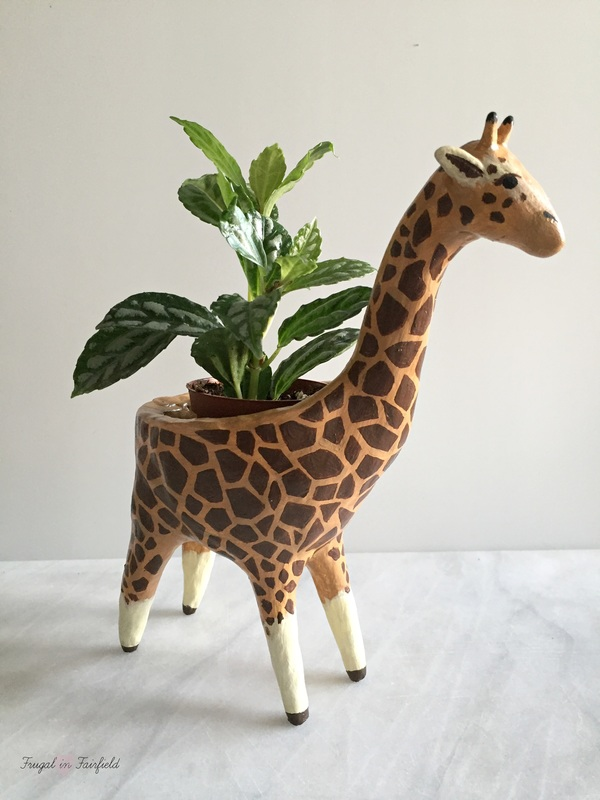 DIY Clay Giraffe Planter