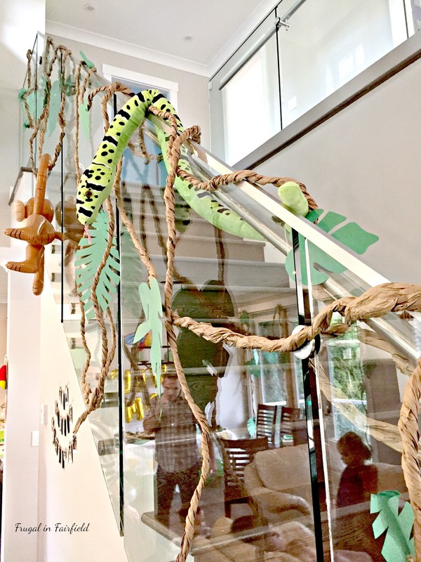 Safari/ Jungle themed birthday party decor